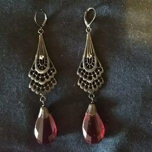 Vintage Czech earrings art deco revival boho OAK